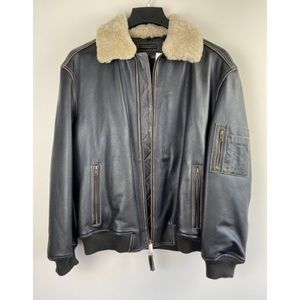 NWT ROUNDTREE & YORKE Bomber W/ Shearling Collar